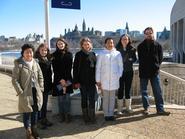 Hamilton students and faculty in Ottawa.