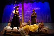 A scene from the Theatre Department production of <em>Wet, or Isabella the Pirate Queen Enters the Horse Latitudes</em>.