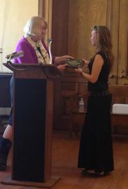 Hillary Joy Pitoniak was presented a Department of Health service award.