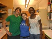 Christopher Rider '12, Whitney Bachow '13 and Fallon Chipidza '10.