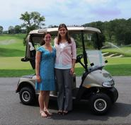 Samantha Sherman '15, left, with her supervisor Erin Walsh.