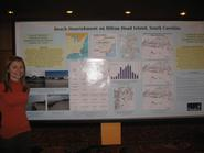 Gwen Simmons '10 at Geological Society meeting.