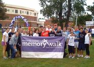 Members of the swimming & diving team at the Memory Walk