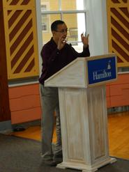 Professor of Economics Steve Wu talks about teaching at one of the monthly events.