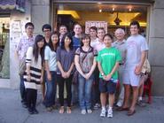 New York Program students and Prof.  Derek Jones at the Tenement Museum.