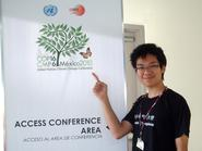 Yinghan Ding '12 at the U.N. Climate Change Conference in Mexico.