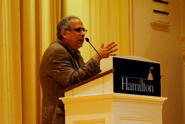 John Zogby lectures in the Chapel.