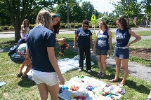 Annual beginning of the year tie-dying event.