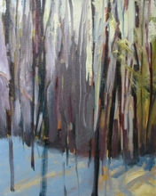Spring Woods II, 2008-09. Oil on canvas, 20 x 16""