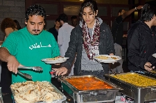 Dinner after Fast-o-thon, an event to raise awareness of Islam and raise funds for the Refugee Center in Utica
