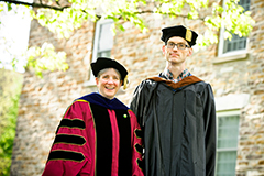 2013 Teaching Award recipients Lydia Hamessley and Rob Knight. Missing from photo: Abhishek Amar.