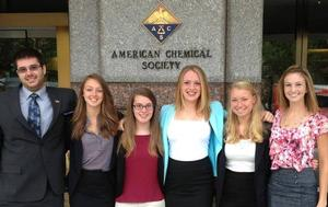 Rachel Sobel (3rd from right) with her fellow American Chemical Society representatives