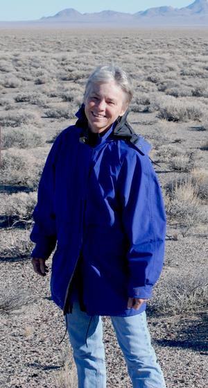 Charlotte Beck at Mud Lake in Souther Nevada