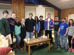 Aaron Astor '95 with Hamilton's Alternative Spring Break group in Tennessee.