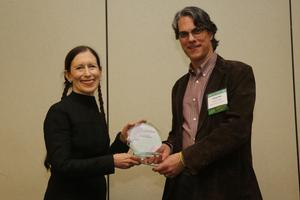 Brent Plate presents the AAR Religion and the Arts Award to Meredith Monk