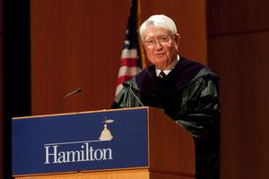 John W. Chandler speaks at Convocation.