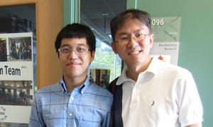 Ke Xu '11 and Associate Professor of Biology Wei-Jen Chang.