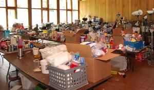 Some of the items collected in May for Cram & Scram.