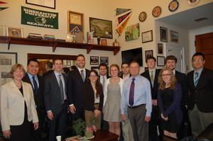 Hamilton's Washington Program students with Rep. Richard Hanna.