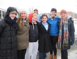 From left, Lily Johnston '16, Bridget Lewis '16, Bethany Campbell '14, Jess Harper '15, Linnea Sahlberg '17, Rachel Sobel '15.