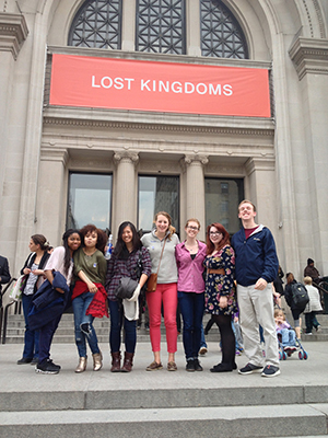 Students from Brent Plate's Religion, Art and Visual Culture class at the Metropolitan Museum of Art.