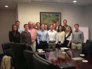 Program in New York students with Rob Morris '76 at Olympus Partners.