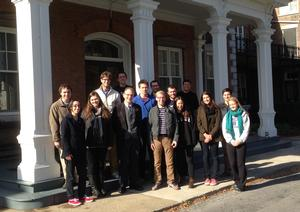 The American Communal Societies class at the Oneida Mansion House.