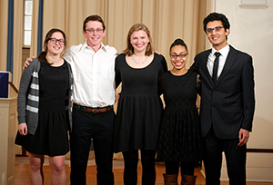 From left Catherine Cooper, William Schoder, Madison Kircher, Porshai Rivera, Hady Hewidy.