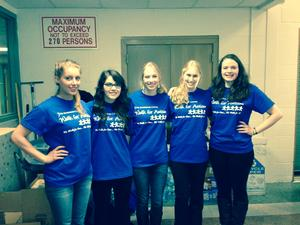 Members of Psi Chi volunteered at the Walk for Autism fundraiser in Oneida.