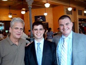 Ned Walker '62, Max Currier '10 and Matthew Zeller '04.