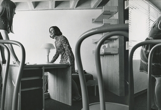 Molly Clark Schmelzer '72 and Laura Connors '72 practice a little feng shui in their new room in McIntosh Hall in September 1968.<br />Photo: The New York Times