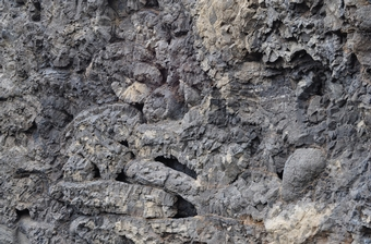 Basalt pillow lava found at the mid-Atlantic Ridge in southeastern Iceland.