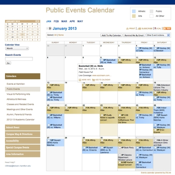 Public Events Calendar - Month View