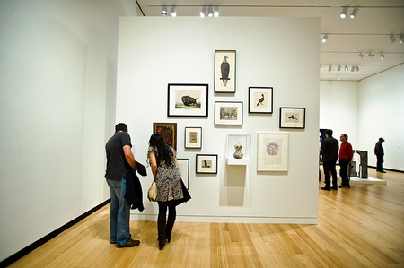Guests explore the new Ruth and Elmer Wellin Museum of Art (PHOTO BY NANCY L. FORD)