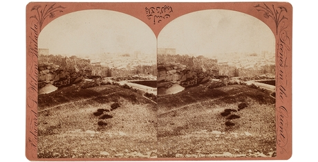 Edward L. Wilson. Jerusalem From Mt. Calvary, c. 1882. Stereocard, 4 1/4 × 7 in. (10.8 × 17.8 cm). Gift of William C. Winslow, Class of 1862.