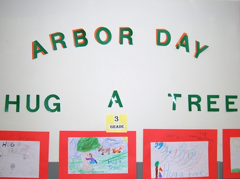 Arbor Day, Clinton Elementary School, April 2013