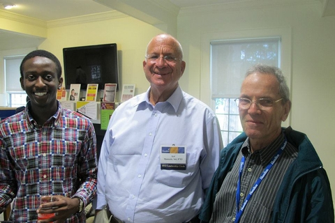 Anthony Jackson '15, Art Massolo '64, P'93 and Herb Kestenbaum '63