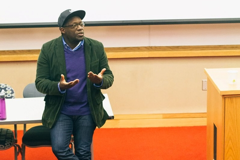 "Director André Robert Lee screened his autobiographical film ""The Prep School Negro."""