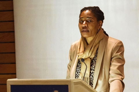 "Syracuse University Law Professor Paula Johnson presented a lecture titled ""Justice is the Public Face of Love."""