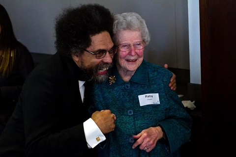 Dr. Cornel West with Patsy Couper