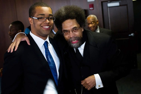 Joseph Anderson '13 and Dr. Cornel West