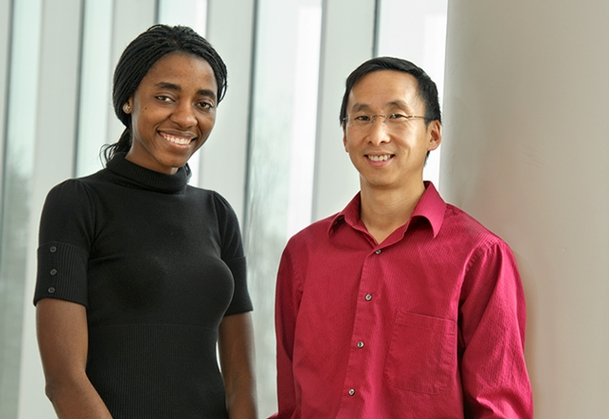Pauline Wafula '13 and Professor of Economics Stephen Wu