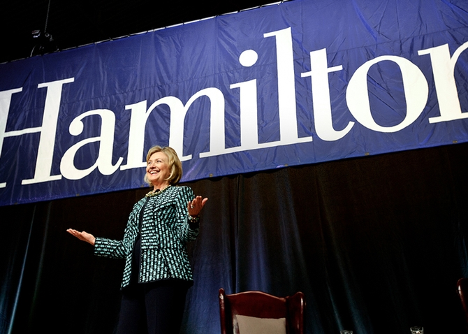 Hillary Rodham Clinton Speaks at Hamilton College