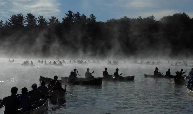 Hamilton Team Competes in Adirondack Canoe Classic