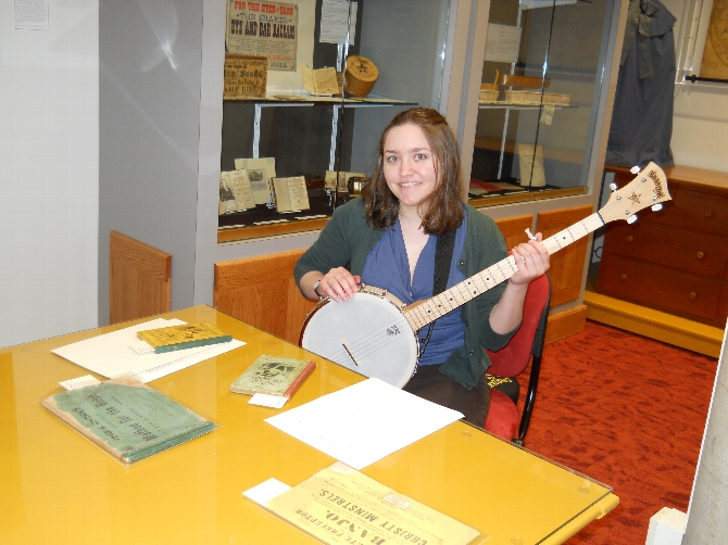 Catherine Crone '13 Compiling Banjo Manual Collection for Emerson Project