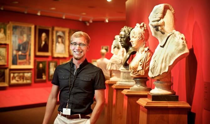 Boudreau '14 Savors the Art of History at Clark Museum