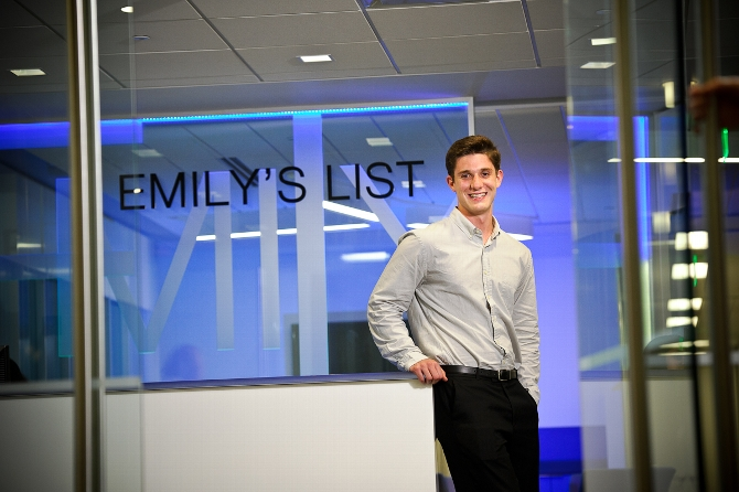 Matthew Creeden '16 is Intern at EMILY's List PAC