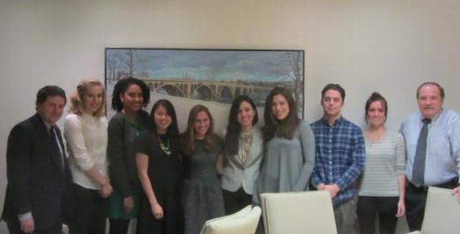Hamilton D.C. Students Meet with Alumni at Williams & Jensen