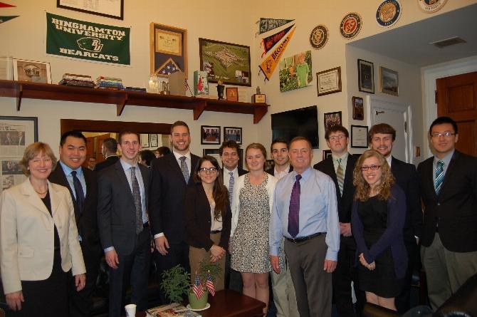 Washington Program Students Meet with Rep. Richard Hanna in D.C.