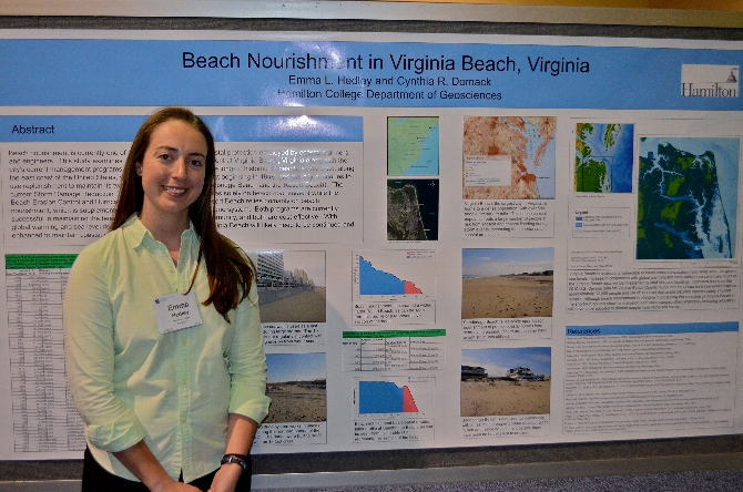 Emma Hedley '14 Presents at Geological Society Meeting